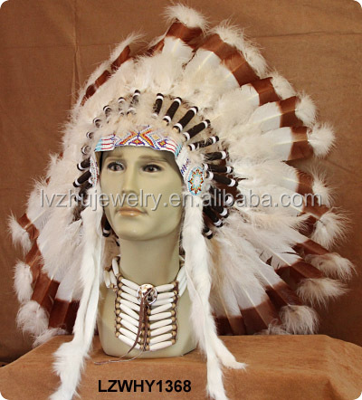 Native American Indian feather carnival headdress LZWHY1368