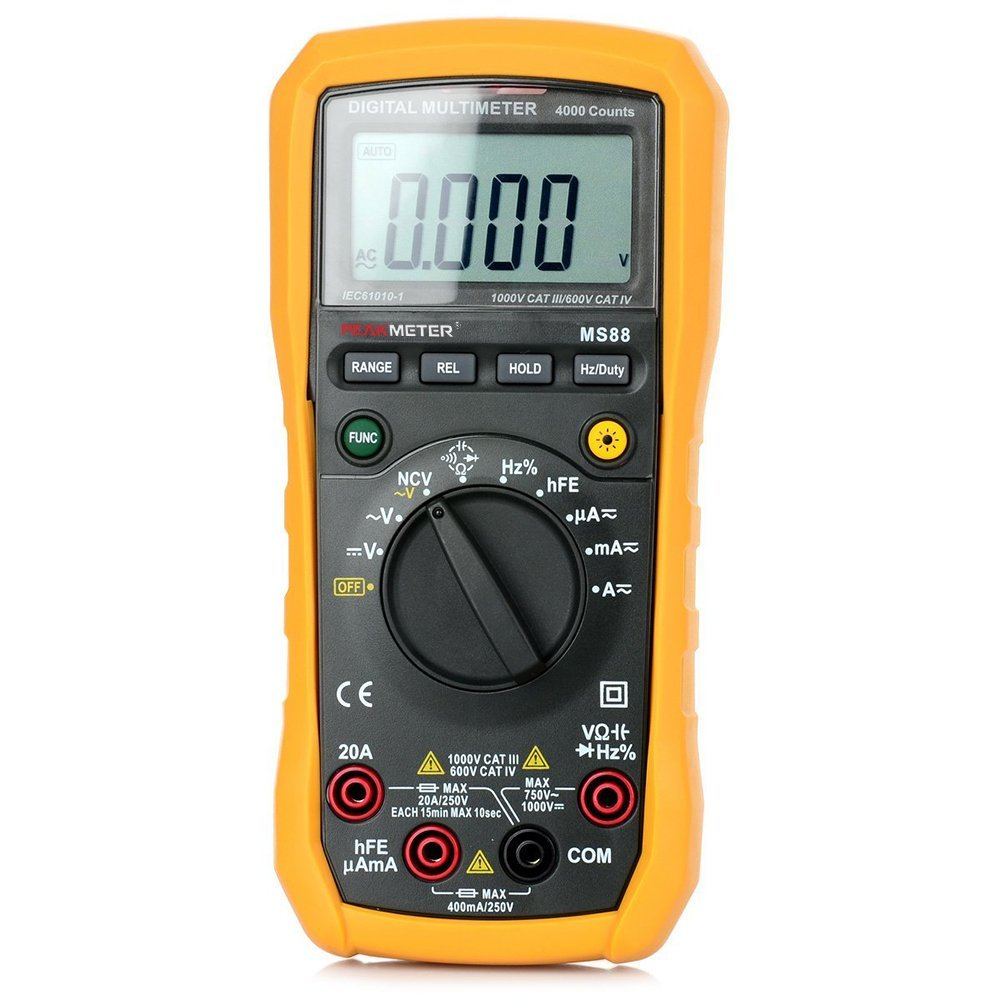 Protech MS88 4000 Counts Volmate Digital LCD Voltmeter Ammeter Ohmmeter Digital Multimeter DC/AC Voltage Current Resistance Capacitance Frequency Duty Cycle Tester Ammeter Multitester