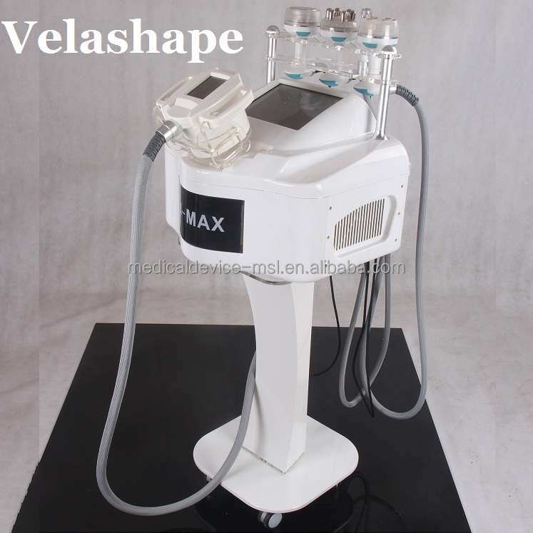 Velashape body slimming machine +40K Cavitation + RF infrared +Vacuum Roller+BIO+ Laser slimming Machine
