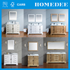 modern double sink laminated birch plywood bathroom cabinet