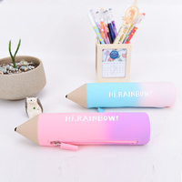 Languo creative best selling silicone school pencil case for teenagers