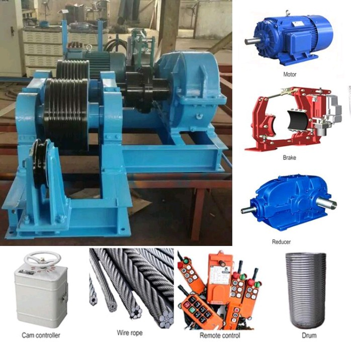 High quality wire rope 9m JM 8 ton hydraulic winch with pump station