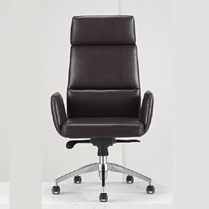 Minimalist parcet high impact PU leather slippery roller office chair
