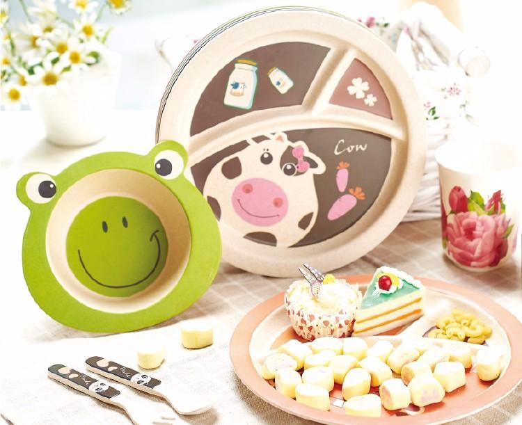 German Children Tableware Kids 5 Piece Toddler Dinnerware Set