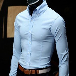 96a73e0eaa22 Men's Slim Fit Three Button Shirts (sky) Er.sh078 - Buy Men's ...