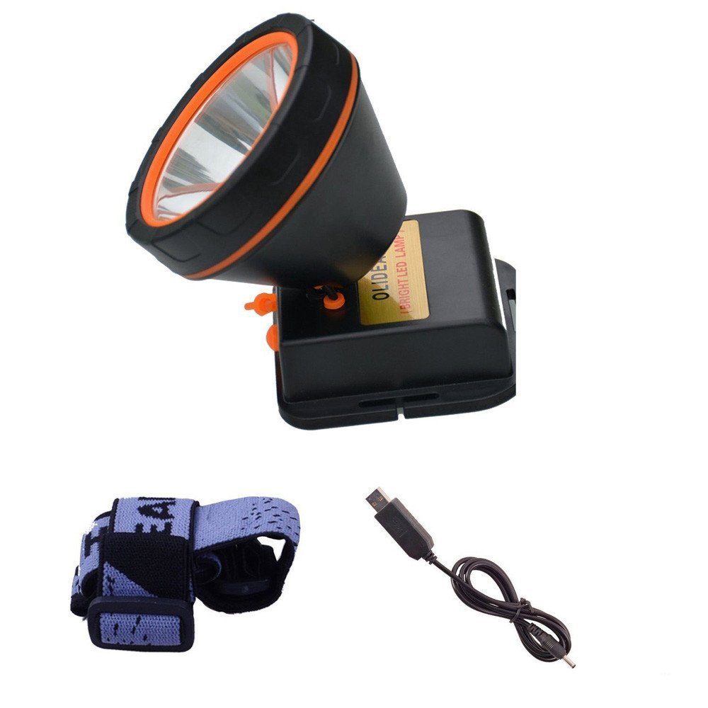 LED Headlight Torch Flashlight, Super Bright LED Headlamp Rechargeable Headlight 5000 Lumens Head Torch Lamp Tactical Flashlights for Sporting Outdoor Camping Hiking Hunting