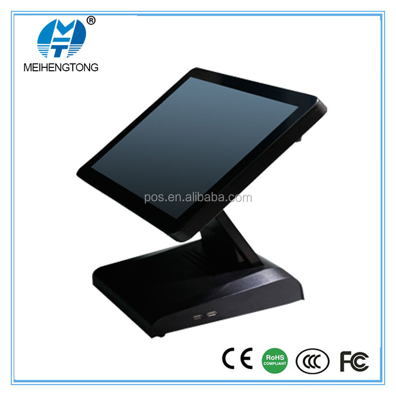 "15""LCD digital pure flat touch pos system screen desktop pos monitor usb 8 inch capacitive touch screen monitor"