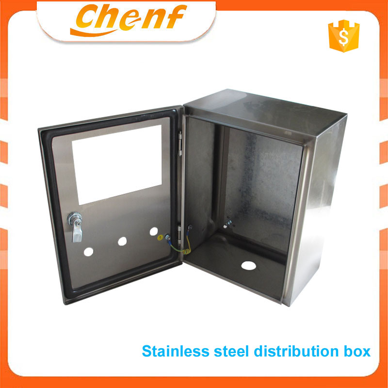 New small metal enclosure electronic distribution box water proof stainless steel lock box