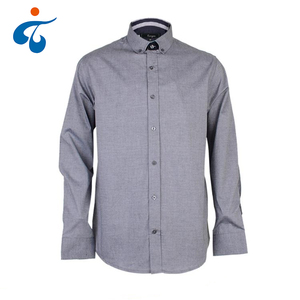Good sealed cheap grey new 100% cotton formal shirt models