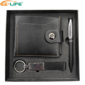 Products Supply Promotion Keychain Clutch Purse Gift Set Tool Pen With Carton Box