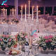 5 holders wedding table dining centerpieces crystal flower candelabra