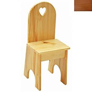 Little Colorado 022HOHT Solid Back Heart Kids Chair in Honey Oak