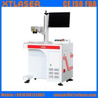 High precision 20W optical fiber laser marking machine for knife , guns. gift, craft, keychain