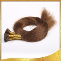 Brazilian Body Wave Hair Stick Tip/I Tip Extensions UK Chocolate Brown pre boned curyl hair extension