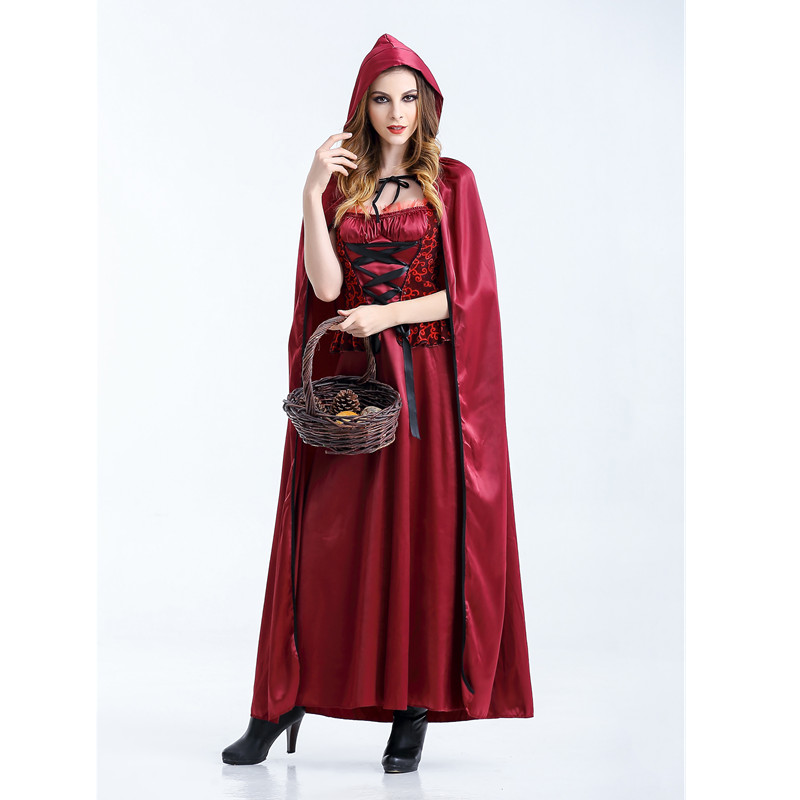 Wholesales Ladies Little Red Riding Hood Costume Fancy Dress Carnvial Halloween Costume