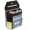 Luxury black color acrylic ballot box pmma suggestion with 2 pockets wall or tabletop