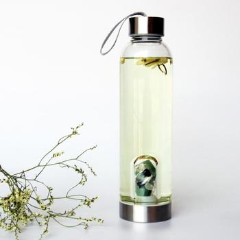b6927dee2f Custom Gemstone Infuser Crystal Elixir Glass Water Bottle - Buy ...