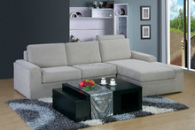 New arrival sofa/corner sofa with pivot headrest ,hot sale new design fabric sectional sofa offer the bed function