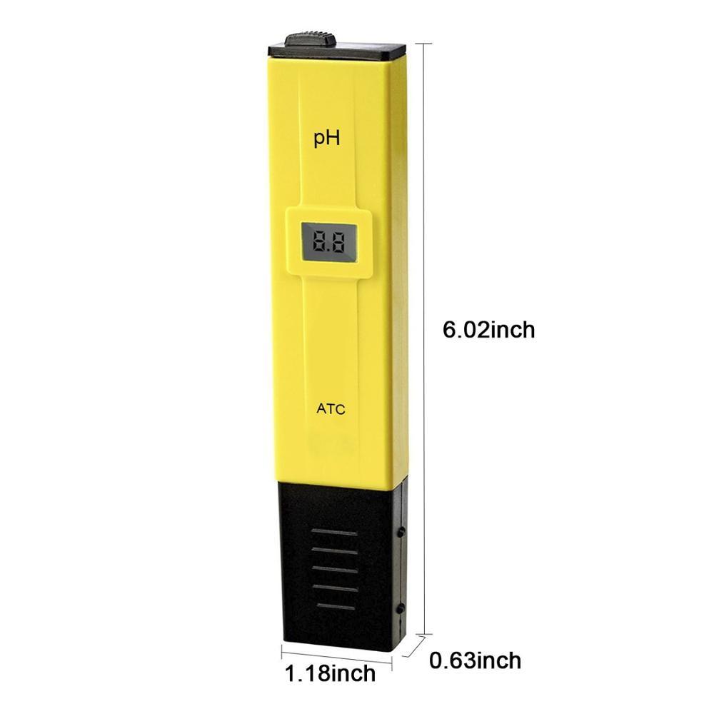 Digital PH Meter Tester Aquarium Pool Water Wine LCD Urine Pen Monitor Tools New