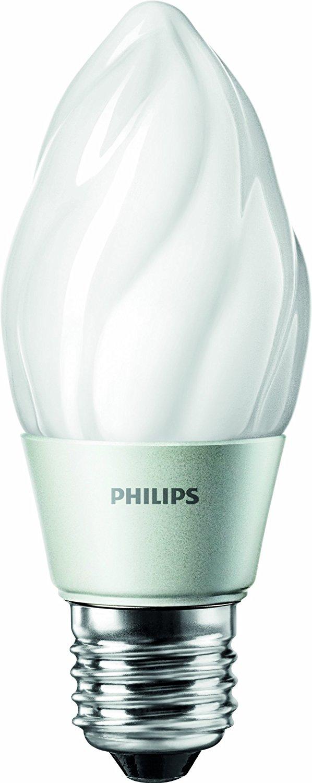 Philips 429357 4.5-watt (40-Watt) Flame Tip Candle LED 2700K (Warm White) Light Bulb with Medium Base, Dimmable
