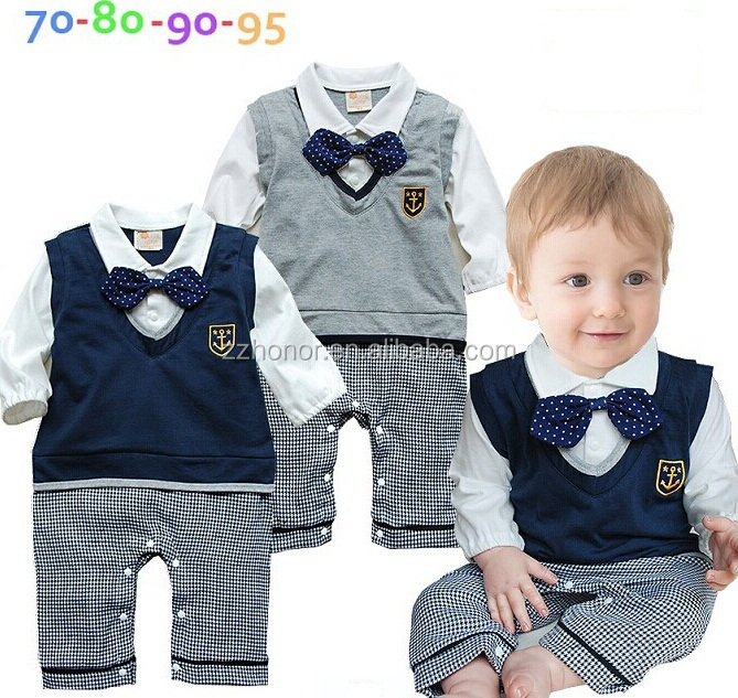 European design suspender trousers boy's suit, spring overalls for 1-2 year old boy