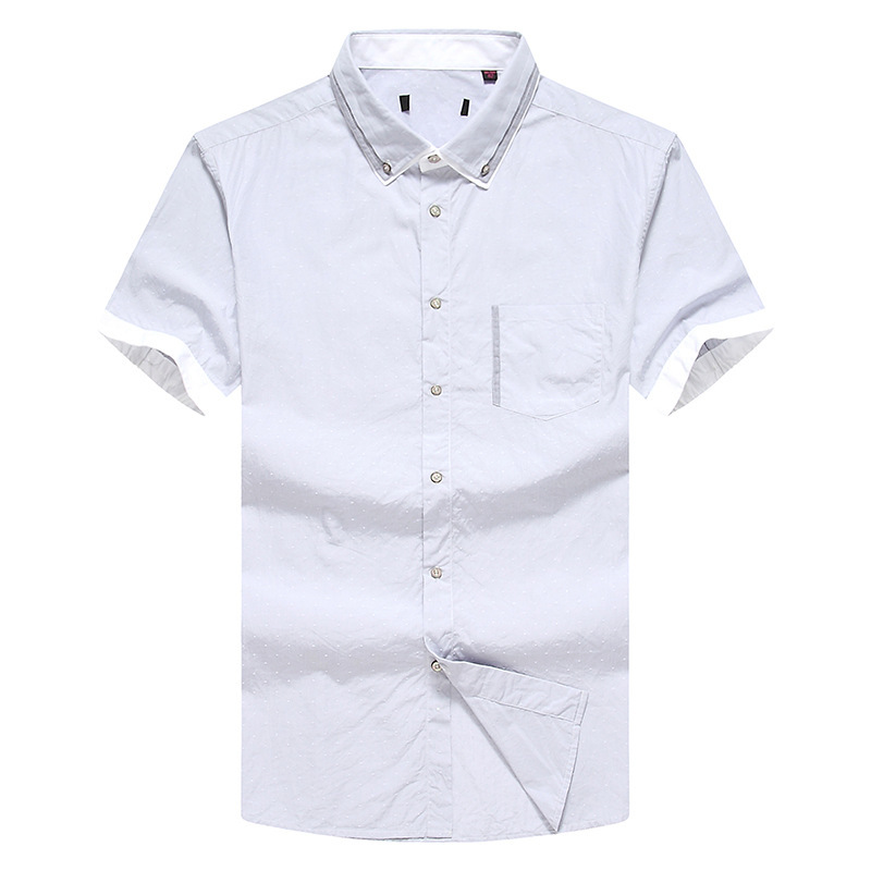 WSPLYSPJY Mens Cotton Tops Blouses Short Sleeve Military Button Down Shirts