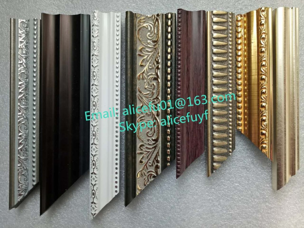 Wholesale new designed decorative Polystyrene/ PS/ Plastic picture frame moulding for