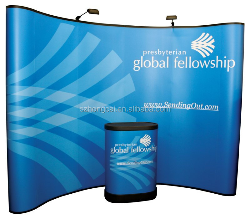 Portable Exhibition Banners : Portable exhibition curved backdrop pop up display stand buy pop