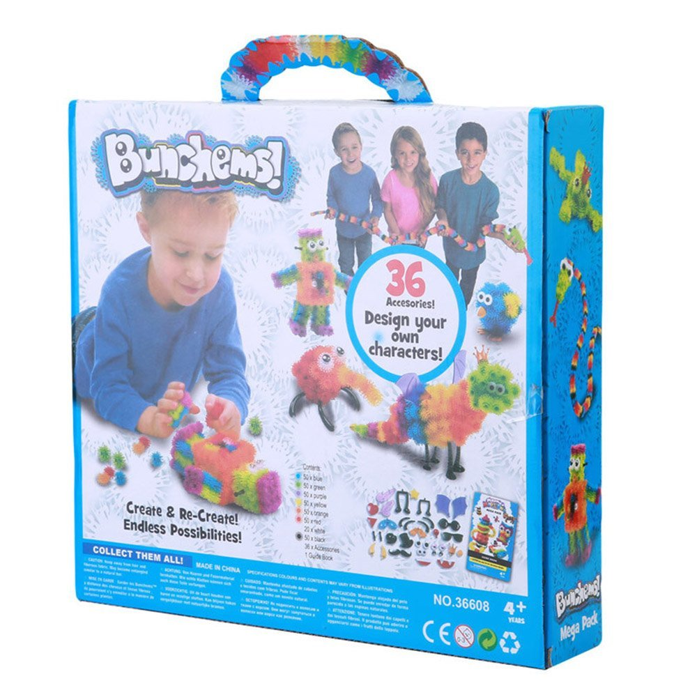 Eminentshop 400pcs Kid Educational Assembling 3D Puzzle Toys DIY Puff Ball Squeezed Variety Shape Handmade Toy Puzzles For Kids