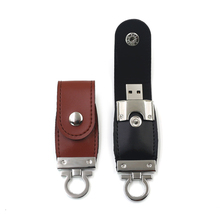 Leather Noble USB 2.0 Flash Stick Cool Key Chain Memory Disk Drive Storage