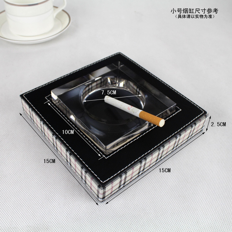 Hotel rooms leather ashtray ashtray /PU classic leather / leather / sundries cylinder bo