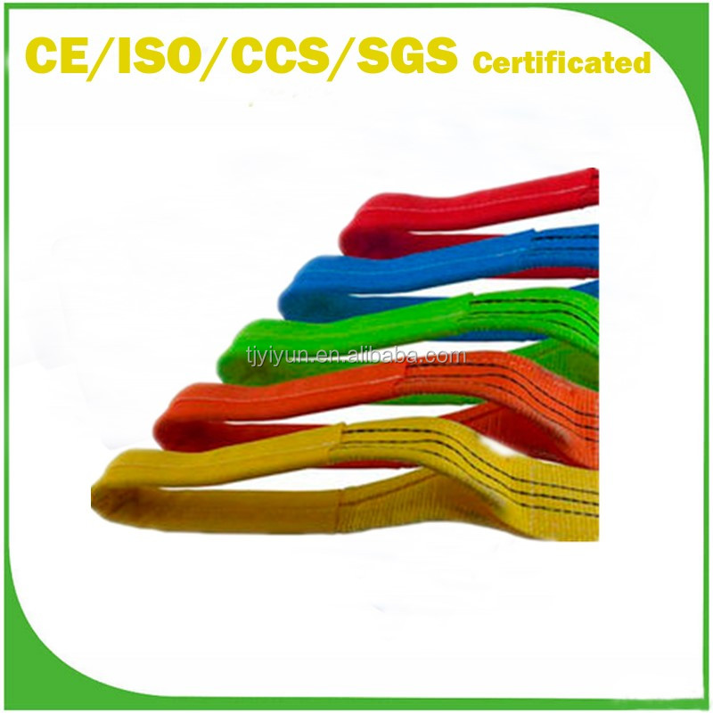 China Manufacture A Type Lifting Flat Polyester Webbing Sling with Safety Factor 6:1