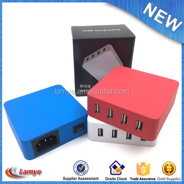 Mini Size All In One Universal Usb World Travel Smart Adapter Plug Charger high speed 4 port usb output
