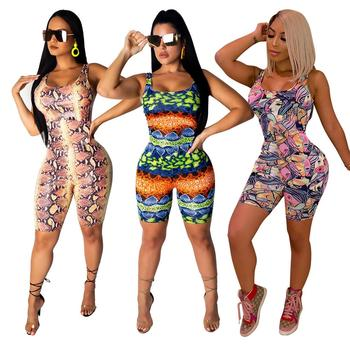 2019 rompers womens printed rompers womens  casual jumpsuit