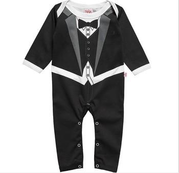 çocuk Bebek Resmi Takım Elbise Smokin Romper Pantolon Ingiliz Tarzı