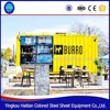 Coffee shop mobile cart kiosk mini shipping outdoor container shop prefabricated restaurant container fast food kiosk design
