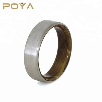 Wood Wedding Band.Poya Jewelry Whiskey Barrel Oak Wood Wedding Band 6mm Comfort Fit Brushed Titanium Ring For Men Women View Titanium Wedding Band Ring Poya Jewelry