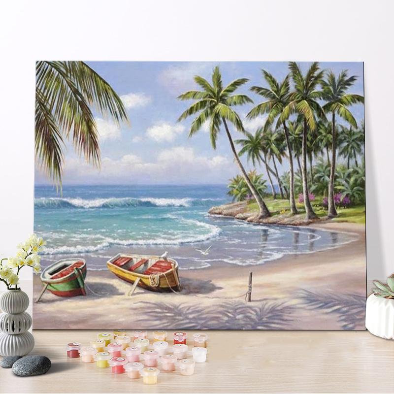 Venta al por mayor cuadros niños playa-Compre online los mejores ...