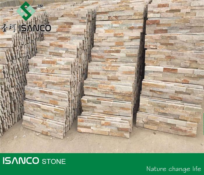 Cultura pizarra oxidada piedra revestimiento de la pared - Piedra pared exterior ...