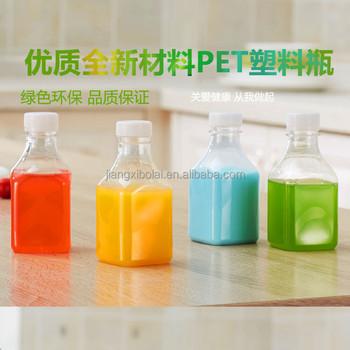 info for 66ee7 c9fa6 Grosir 250 ml Botol Persegi Jelas Plastik Sekali Pakai Jus Susu Minuman  Yogurt