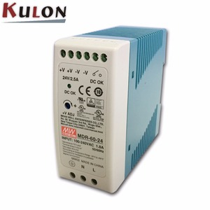 MEAN WELL MDR-60-24 PFC 60w 24vdc 2.5a din rail Power Supply