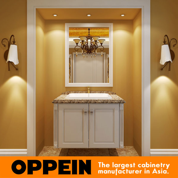 Traditional White Lacquer Bathroom Funiture Design