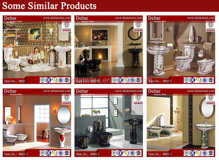 Noble Decoration Style Toilet BathroomItalian Classic Design Wc