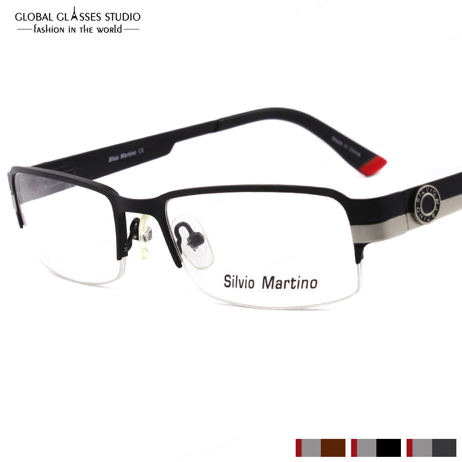 New Italy Design Glasses Frame Classic Stainless Steel Metal ...