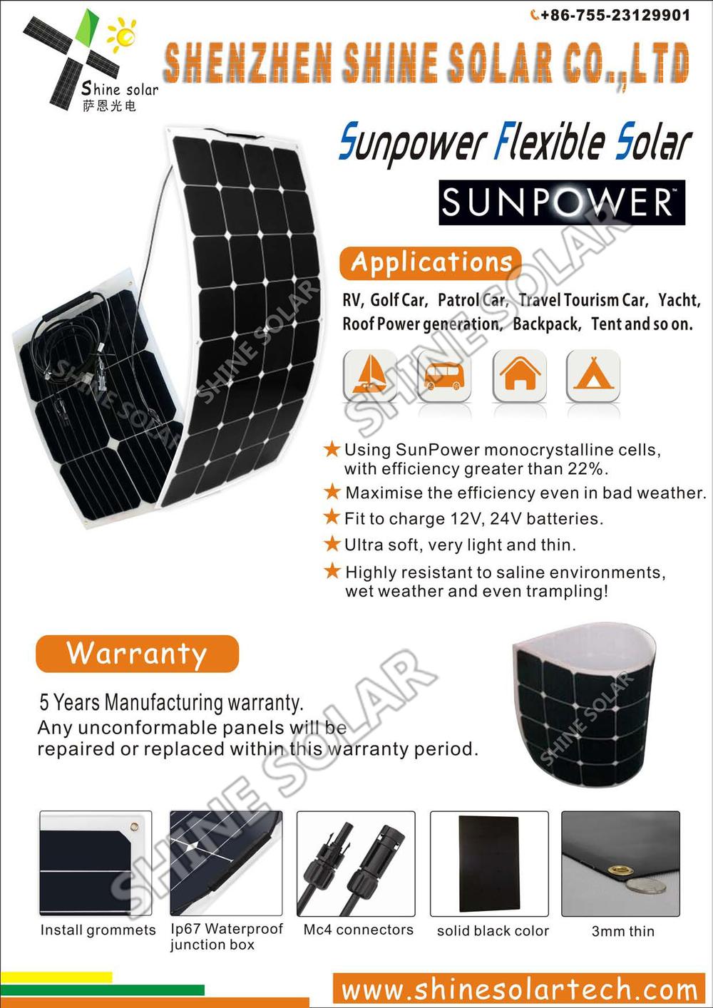 Flexible Waterproofing Roof Sheet 90w Solar Panel Buy