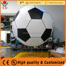 Hot sale inflatable balloon football shaped inflatable helium balloon self inflating helium balloons