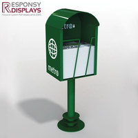 Brochure stand magazine display and outdoor newspaper rack