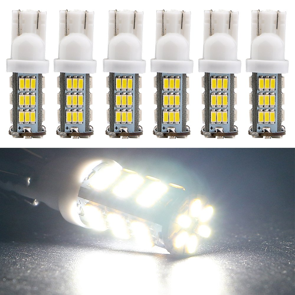 EverBright 6-Pack White T10 / 194 / 168 / 921 W5W 3014 42-SMD LED Interior Lights Bulb For Car Replacement Lights Trunk / License Plate Side Marker Light