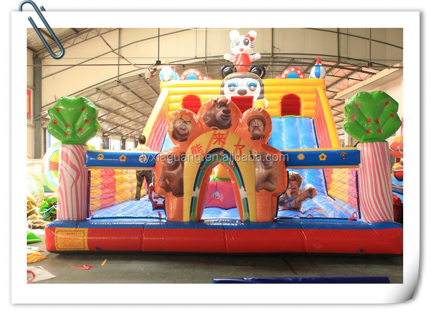 children game castles commercial inflatable slide ,inflatable castle with slide