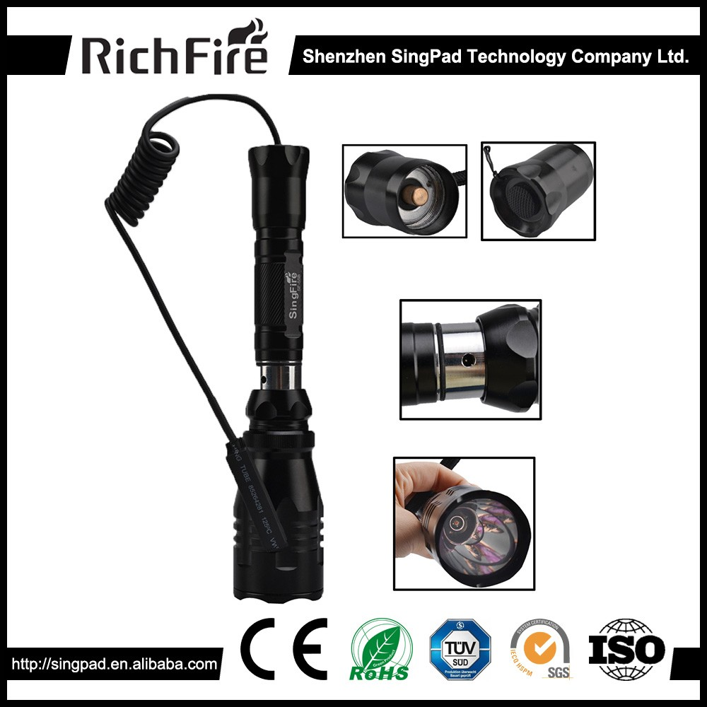 high power ipx7 800lm led hunting flashlight,10w zoomable hunting flashlight,ultra uv hunting flashlight